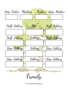 Blended Family Tree