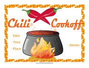 Cook-Off Flyer With Chili