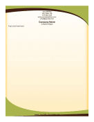 Green Swish Letterhead