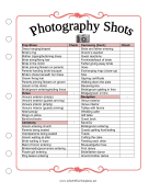 Wedding Planner Photo List