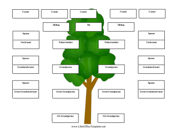 Backward 5 Generation Family Tree LibreOffice Template