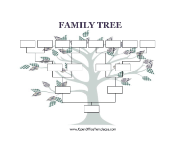 Blank family tree for Ancestry book templates