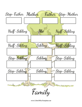 Blended Family Tree LibreOffice Template