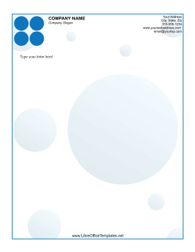 Blue Dot Letterhead LibreOffice Template