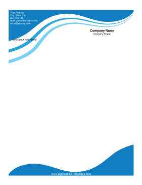Blue Wave Letterhead LibreOffice Template