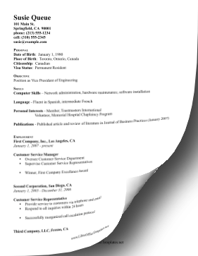 Engineering CV LibreOffice Template