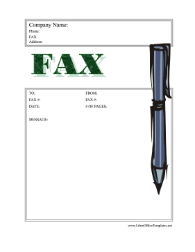 Fax Coversheet Stylus Pen LibreOffice Template