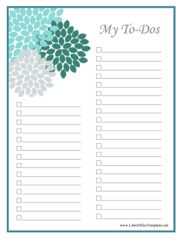 Floral To Do List LibreOffice Template