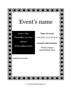 Flyer for Events LibreOffice Template