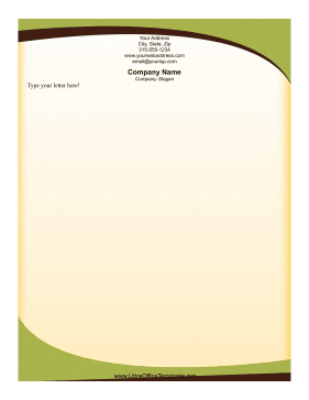 Green Swish Letterhead LibreOffice Template