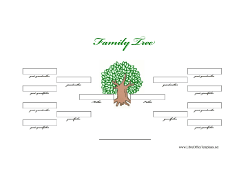 Illustrated 4-Generation Family Tree LibreOffice Template