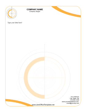Orange Letterhead LibreOffice Template