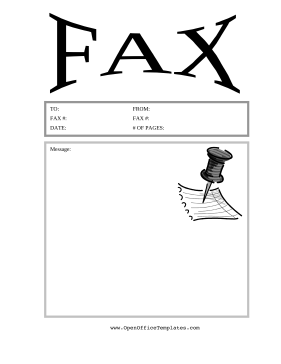 Thumbtack Fax Cover Sheet