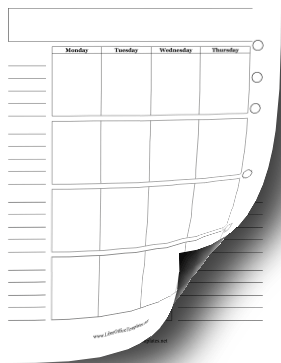Two-Page Monthly Planner LibreOffice Template