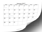 2017 Twelve Month Calendar LibreOffice Template