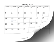 2018 Twelve Month Calendar LibreOffice Template