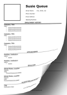 CV With Headshot LibreOffice Template