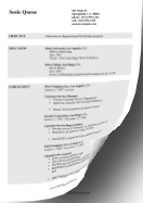 Higher Education CV LibreOffice Template