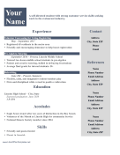 Resume For Teens LibreOffice Template